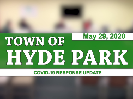 Hyde Park COVID-19 Response Update #9, 5/29/20