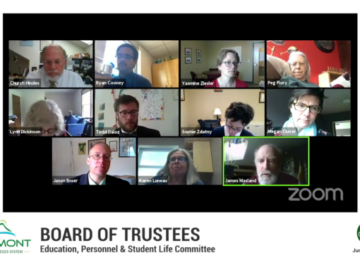 VSCS Board of Trustee Special Meeting, 6/1/20 (Education, Personnel & Student Life Committee)