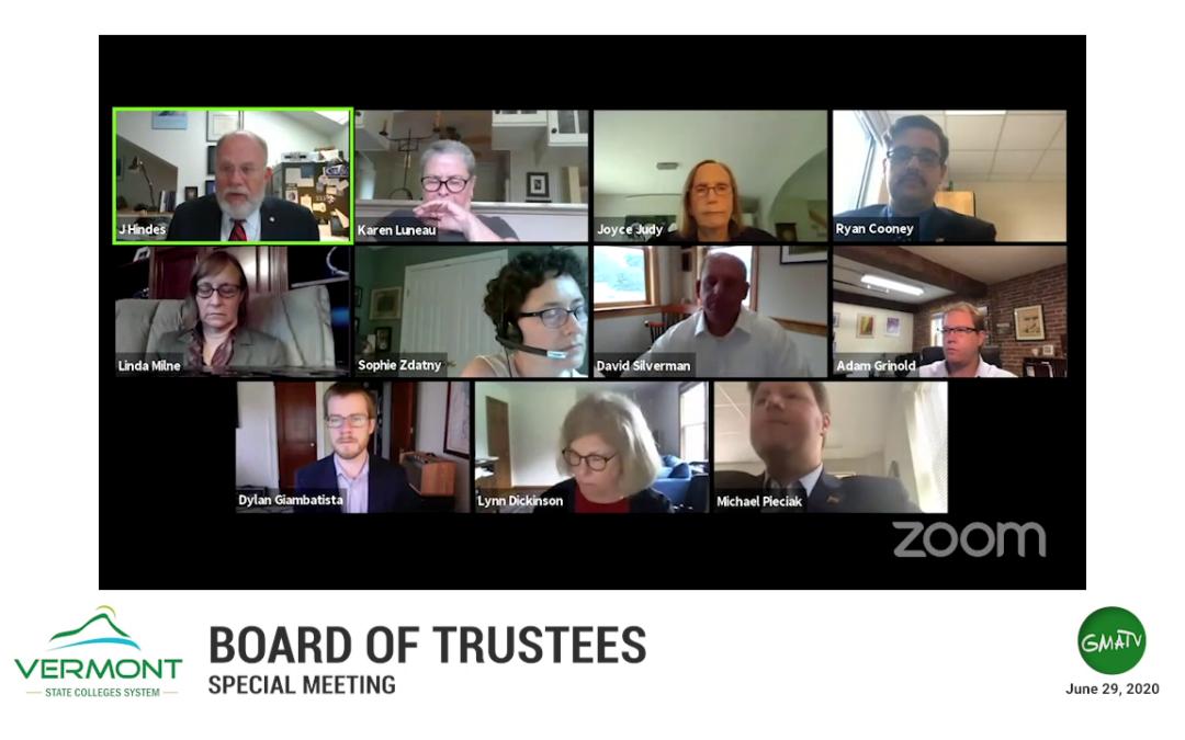 VSCS Board of Trustee Special Meeting, 6/29/20