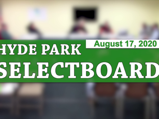 Hyde Park Selectboard, 8/17/20