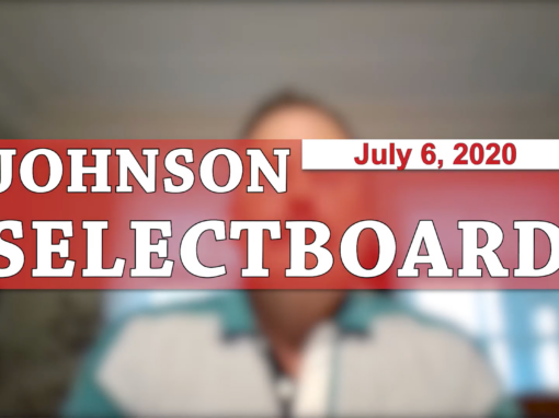 Johnson Selectboard, 7/6/20