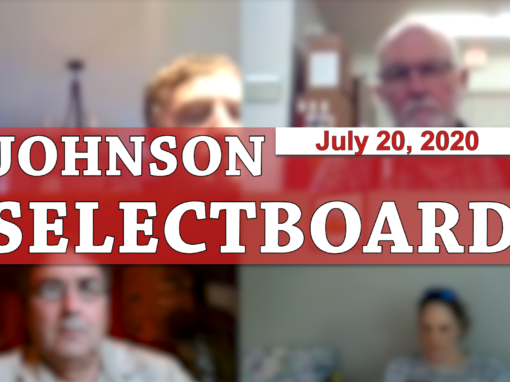 Johnson Selectboard, 7/20/20