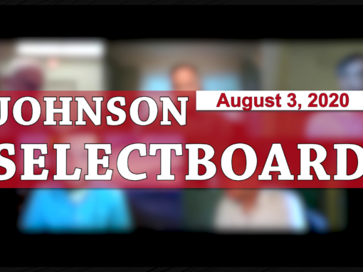 Johnson Selectboard 8/3/20