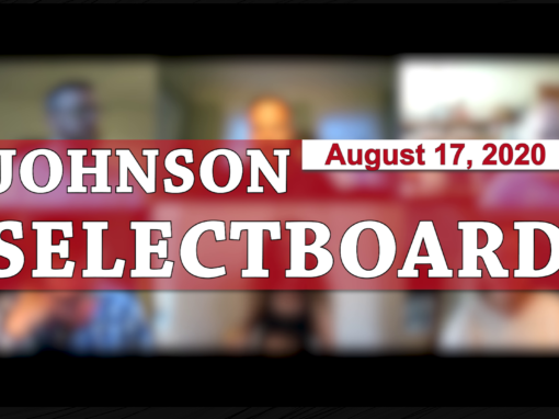 Johnson Selectboard, 8/17/20