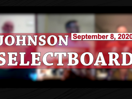 Johnson Selectboard, 9/8/20