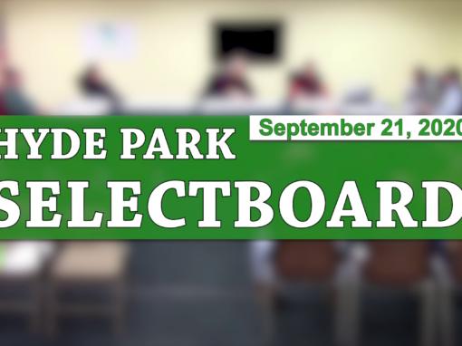 Hyde Park Selectboard, 9/21/20