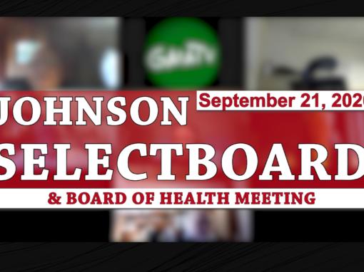 Johnson Selectboard, 9/21/20