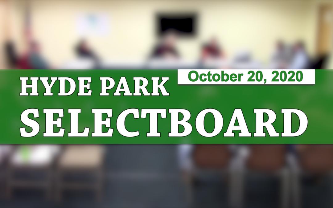 Hyde Park Selectboard, 10/20/20