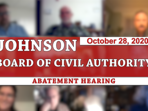 Johnson Board of Civil Authority 10/28/20