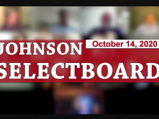 Johnson Selectboard, 10/14/20