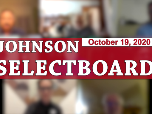 Johnson Selectboard, 10/19/20