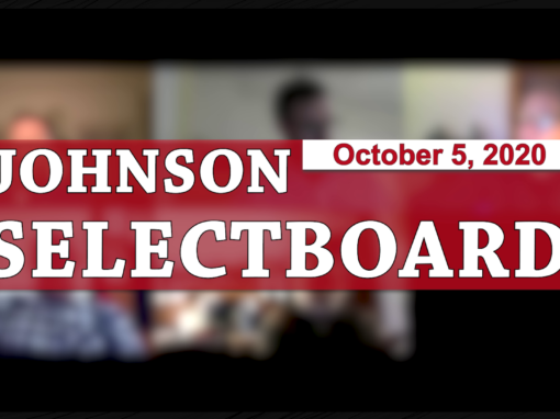 Johnson Selectboard, 10/5/20