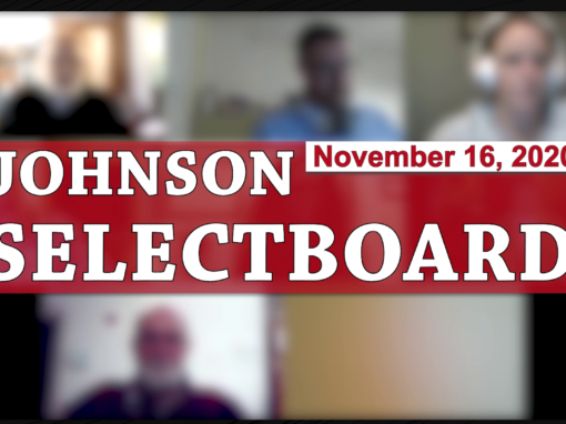 Johnson Selectboard, 11/16/20