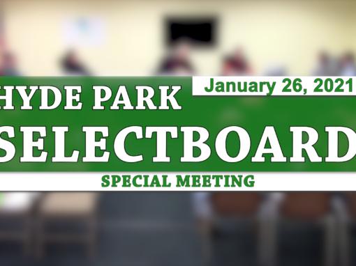 Hyde Park Special Selectboard 1/26/21