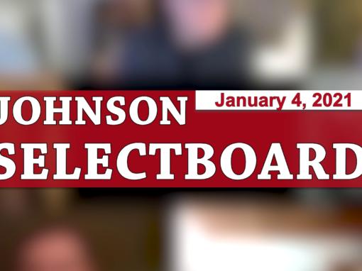 Johnson Selectboard 1/4/21
