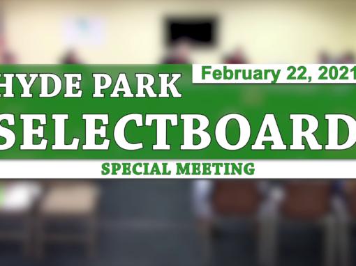 Hyde Park Special Selectboard 2/22/21