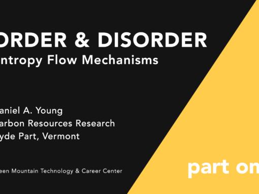 Climate Change Series: Order & Disorder Entropy Flow Mechanisms
