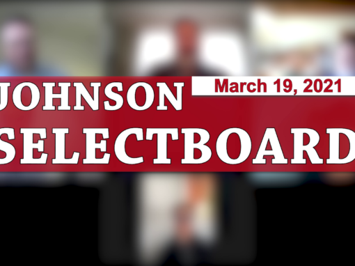 Johnson Selectboard 3/19/21