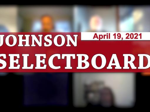 Johnson Selectboard 4/19/21