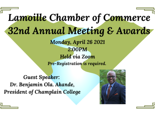 Lamoille Chamber of Commerce 32nd Annual Meeting & Awards Ceremony 4/26/21