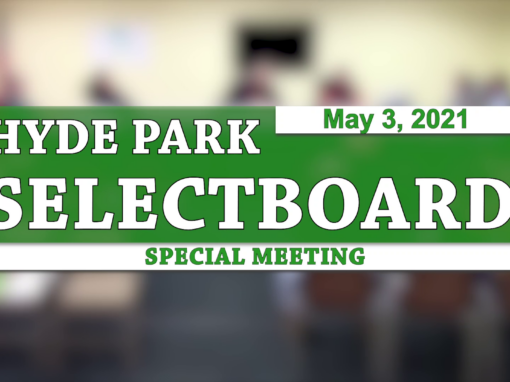 Hyde Park Special Selectboard 5/3/21