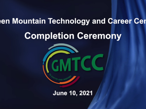 Green Mountain Technology and Career Center Completion Ceremony 6/10/21