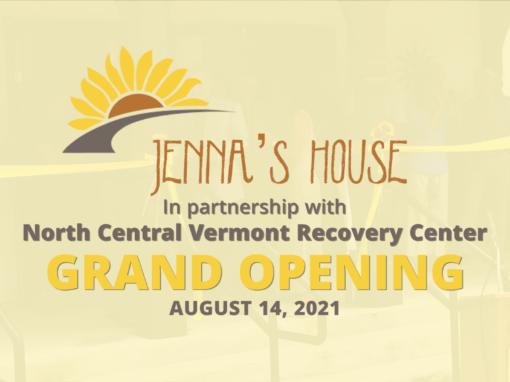 Jenna's House Grand Opening 8/14/21