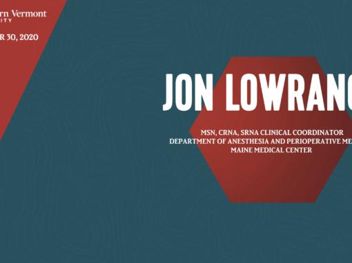 Current Topics in Science Series – Jon Lowrance