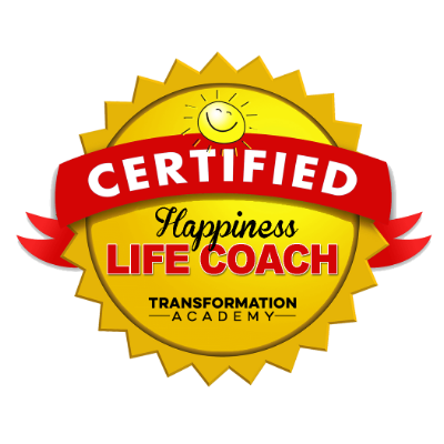 happiness life coach badge