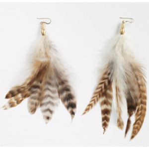back to school feather earings3