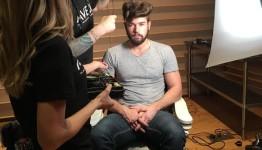 Aveda 50's Messy Pompadour Hair Look for the Loris Diran F/W16 Show #nyfwm #livingaveda @LorisDiran #NYFW