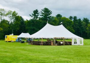Wedding tent and food truck