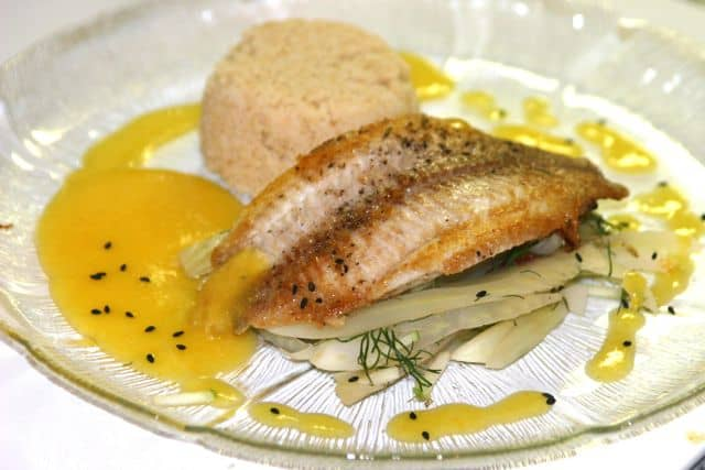 Smoked Catfish, Sweet & Sour Fennel, Kumquat Sauce