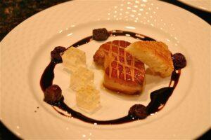 Foie Gras with Gewürztraminer Jelly, Cherries, Brioche