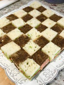 Alice in Wonderland Theme Checkerboard Sandwiches