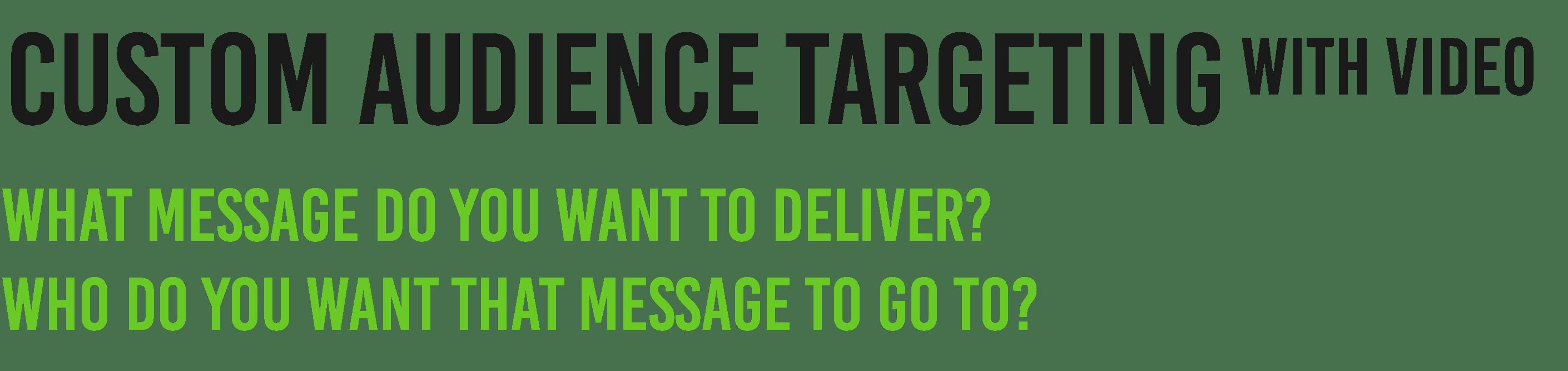 custom audience targeting with video