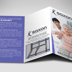 Saxon Logo and Brochure