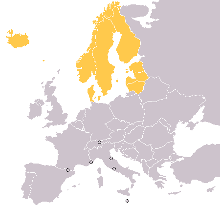 Map of Northern Europe