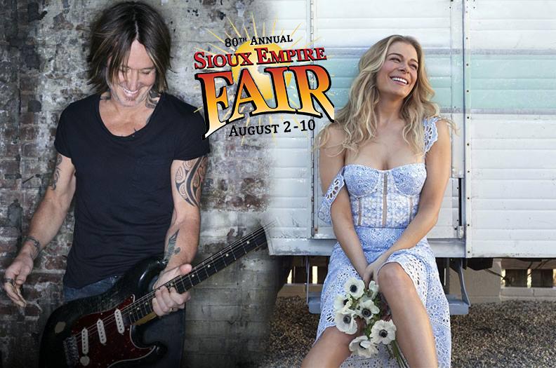 Sioux Empire Fair Will Have Keith Urban & LeAnn Rimes