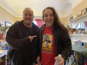 Paco Romane and comedian Phil Johnson