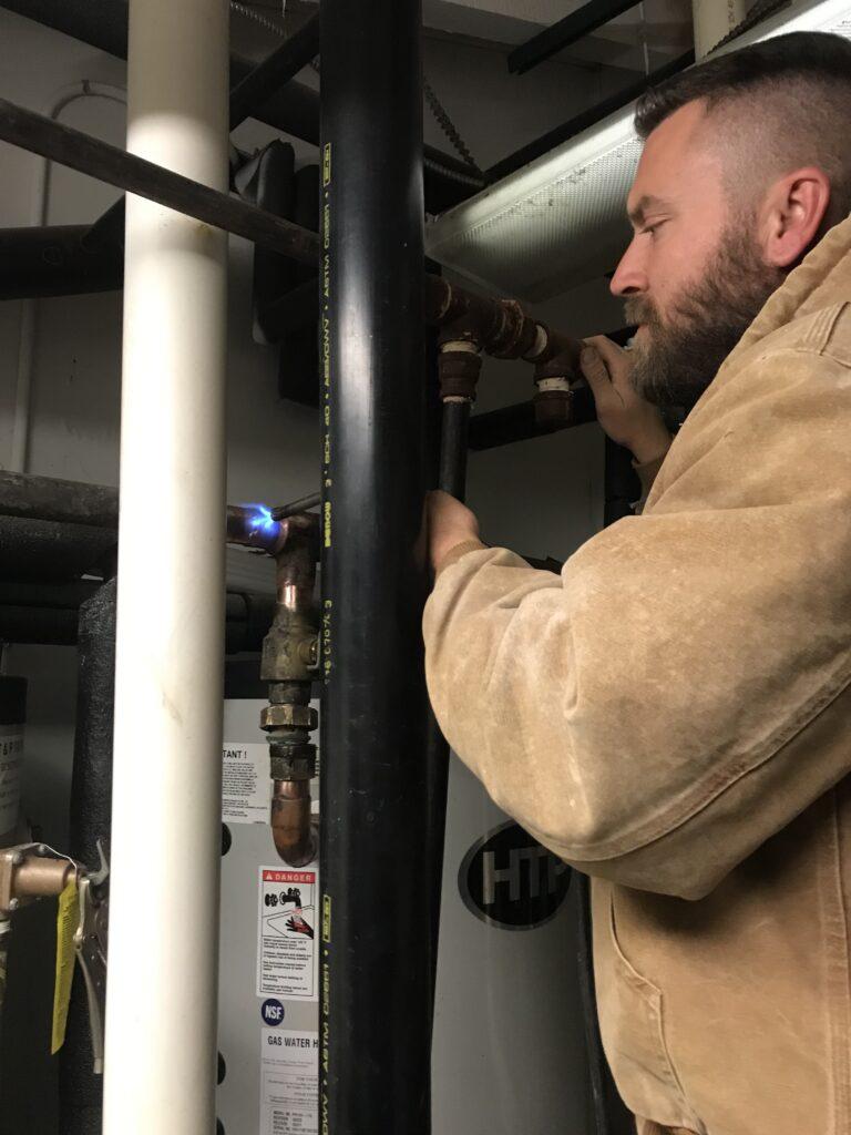 Repair of commercial water heater