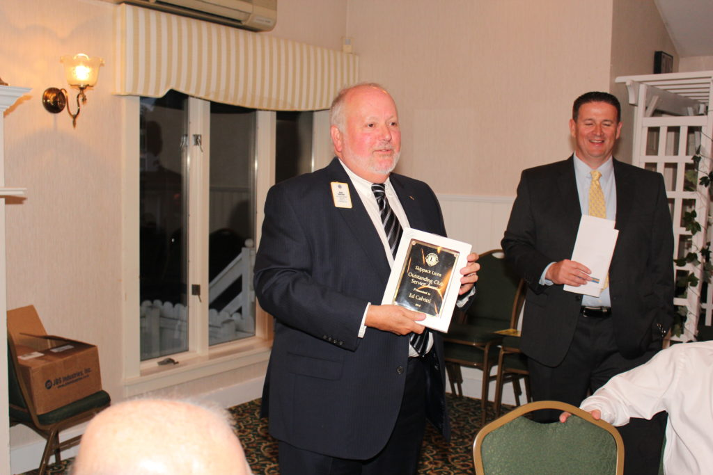 Ed Calvitti Club Service Award Accepted by Mark Berchem