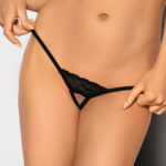 Angels Never Sin Open Crotch Thong