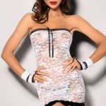 Angels Never Sin Lace Chemise with Thong & Wrist Cuffs