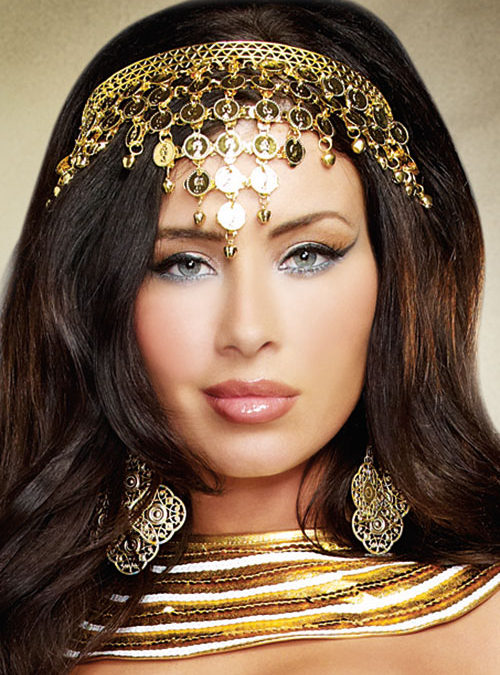 Dreamgirl Shimmering Gold Coin Crown