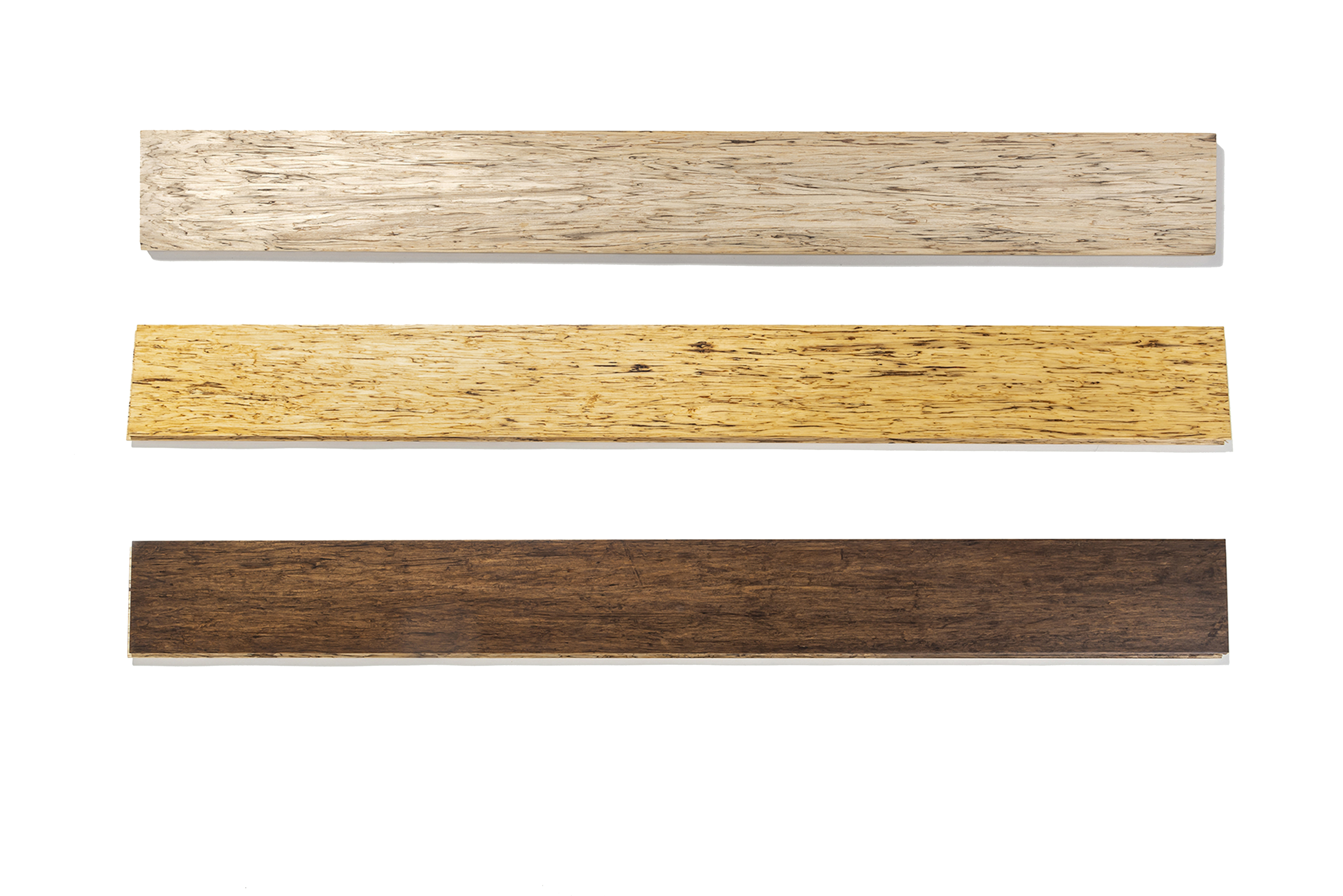 stained and unstained flooring samples