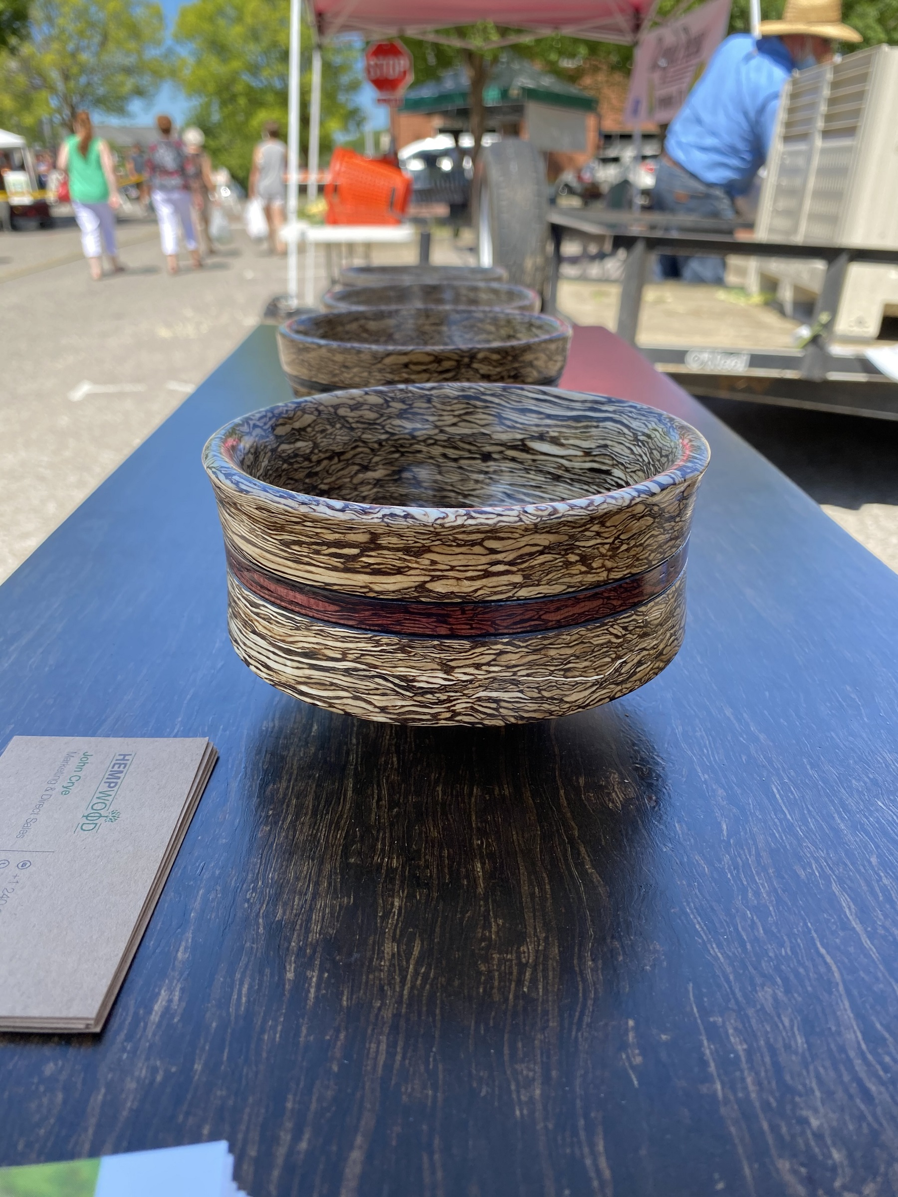 polished hemp wood bowls