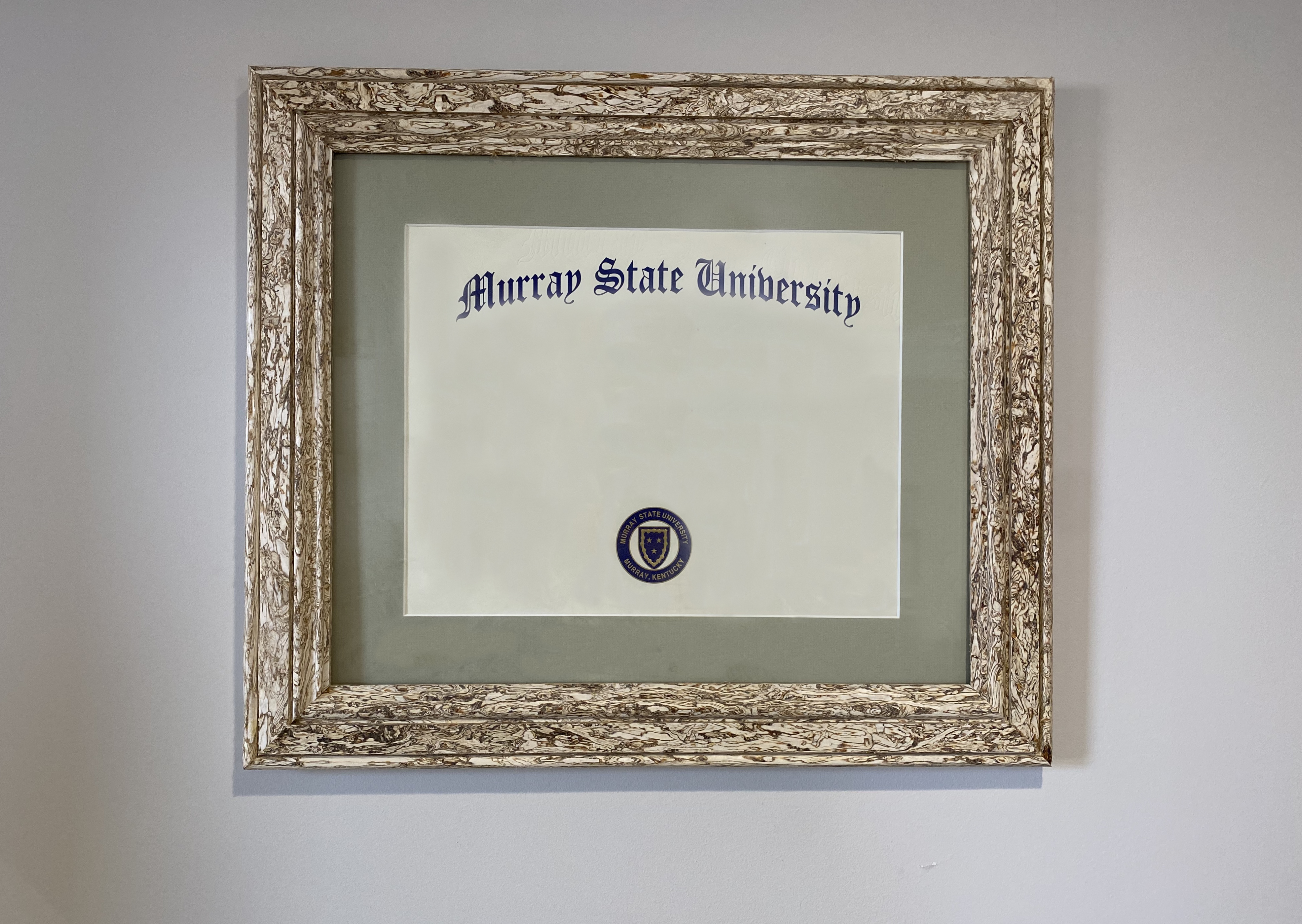 artfully crafted diploma frame