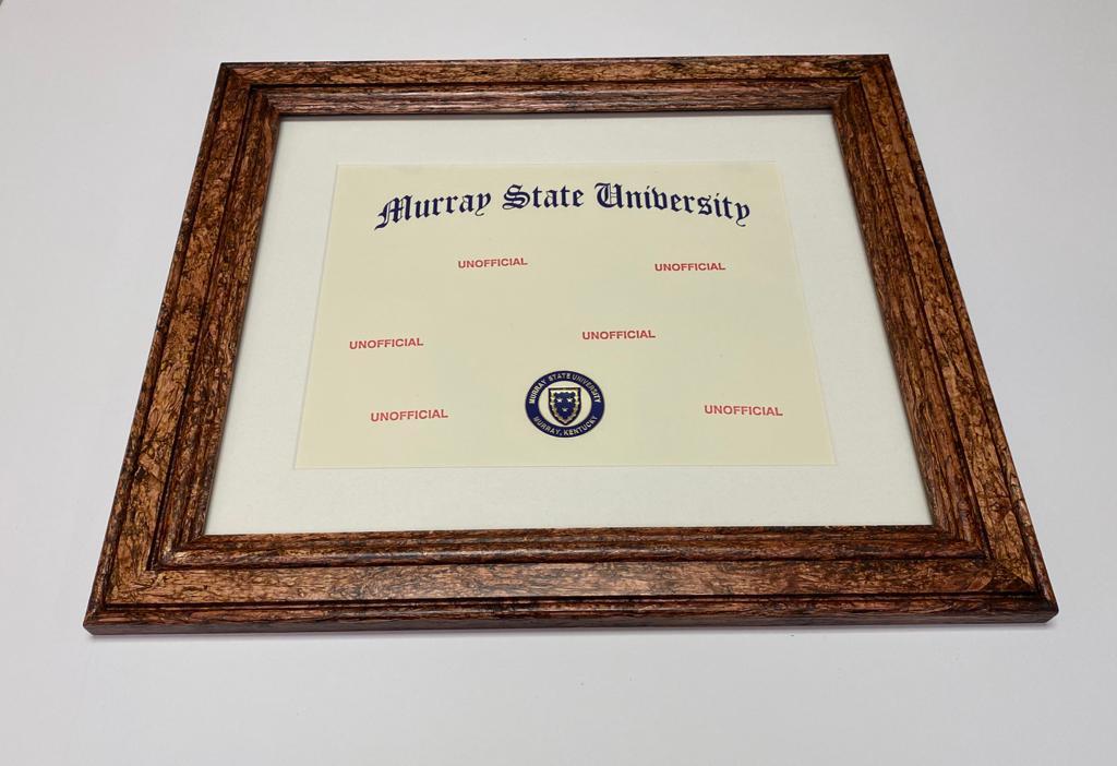 HempWood frame for diploma