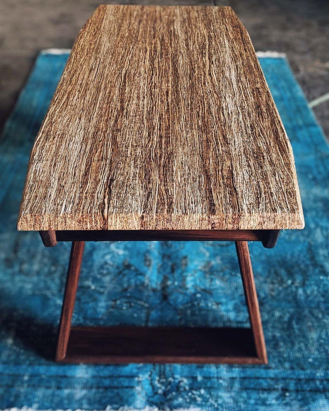 Hand crafted hemp table
